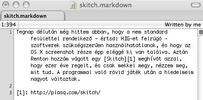 Skitch első bekezdés